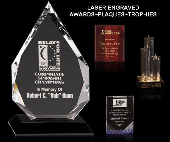 Laser Engraved Awards~Plaques~Trophies
